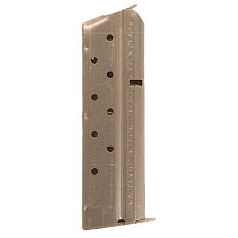 Colt 1911 Full Size 9 Round Magazine 9mm Luger Stainless Steel Natural Finish