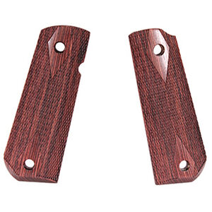 Hogue 1911 Government Model Round Heel Ambidextrous Safety Cut Checkered Kingwood