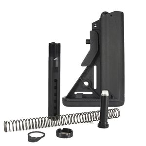 JE Machine Mil-Spec SOPMOD Stock Stock, Mil-Spec Buffer Tube, Spring, Castle Nut, End Plate, 3 oz. Buffer (Black)