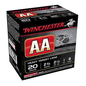 """Winchester AA Target 20 Ga 2.75"""" #8 Lead 1oz 250 Rounds"""