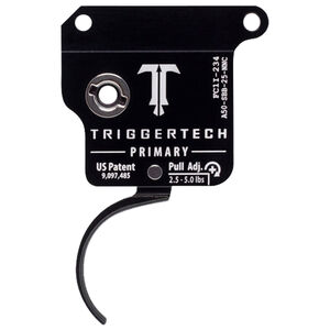TriggerTech AR-50 Primary Trigger Adjustable Single-Stage Drop-In Curved Trigger Black PVD Finish
