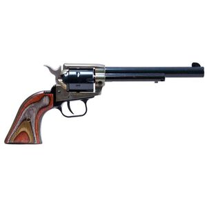 "Heritage Rough Rider ""The Jonny Boy"" Revolver .22 Long Rifle 6"" Barrel 6 Rounds Wooden Grips Case Hardened Frame Blued RR22CH6"