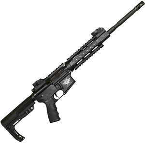 "Civilian Force Arms Xena-15 Gen 4 AR-15 Semi Auto Rifle 5.56 NATO 16"" Barrel 30 Rounds Quad Rail Collapsible Stock Black"