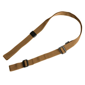 """Magpul RLS Two Point Standard Weapon Sling Chafe Resistant 1.25"""" Nylon Mesh Webbing Reinforced High Strength Injection Molded Polymer Hardware Coyote Tan Finish"""
