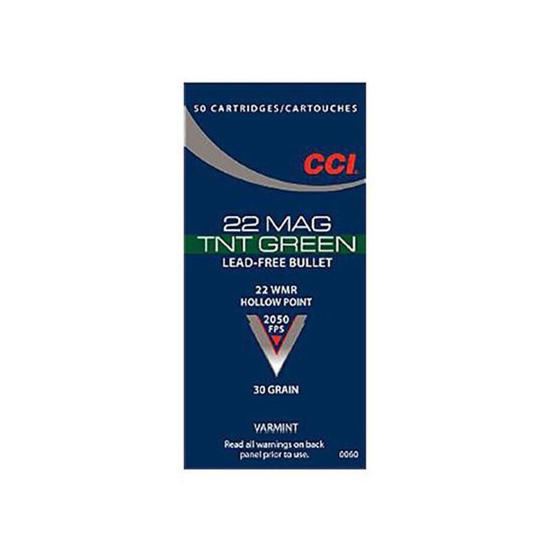 CCI TNT Green .22 WMR Ammunition 2,000 Rounds JHP 30 Grain 2,050 Feet Per Second
