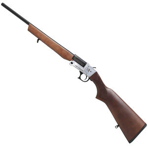 "Iver Johnson Break Action Shotgun 410 Bore 26"" Barrel 3"" Chamber 1 Round Full Choke Walnut Stock Silver/Blued"