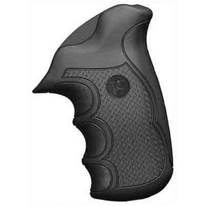 Pachmayr Diamond Pro S&W K/L Frame Round Butt Revolver Grips Rubber Black 02479