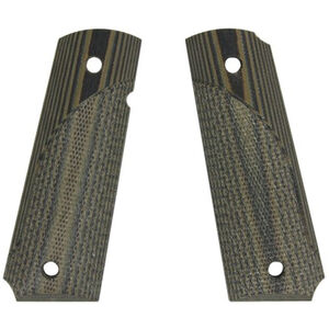 Pachymayr G-10 Tactical Grips 1911 Full Size Smooth Green/Black 61000