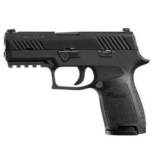 "SIG Sauer P320 Nitron Compact Semi Auto Pistol .45 ACP 3.9"" Barrel 9 Rounds SIGLITE Sights SIG Rail Modular Polymer Frame/Grip Matte Black Finish"