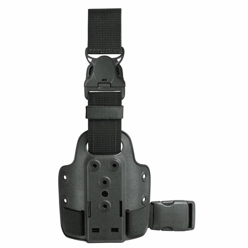 Safariland Model 6005-10 Single Strap Leg Shroud with Quick Release Leg Strap Ambidextrous Black