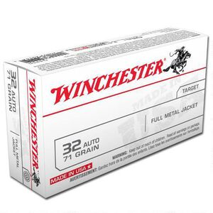 Winchester USA .32 ACP Ammunition 500 Rounds, FMJ, 71 Grains