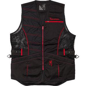 Browning Ace Shooting Vest Men's Black/Red Right Hand Medium