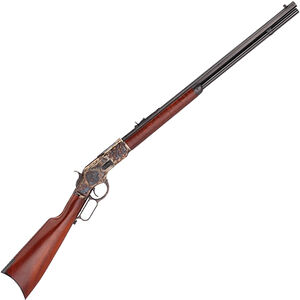 "Taylor's & Co 1873 Straight Stock Rifle .357 Mag Lever Action Rifle 20"" Octagon Barrel 10 Rounds Tuned Action Walnut Stock Case Hardened/Blued Finish"