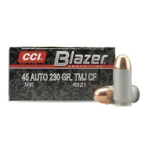 CCI Blazer Clean-Fire .45 ACP Ammunition 50 Rounds 230 Grain Total Metal Jacket 845fps