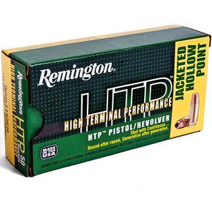 Remington 9mm Luger +P HTP Ammunition 50 Rounds, JHP, 115 Grains