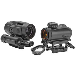 SIG Sauer Optics Romeo-MSR 2 MOA Red Dot & Juliet3-Micro Magnifier Combo Picatinny Mount Black