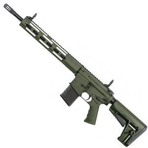 "Kriss USA Defiance DMK22C AR-15 Style Semi Auto Rifle .22 Long Rifle 16.5"" Barrel 15 Round Capacity 13"" Free Float Modular Hand Guard Pistol Grip/Collapsible Stock OD Green Finish"