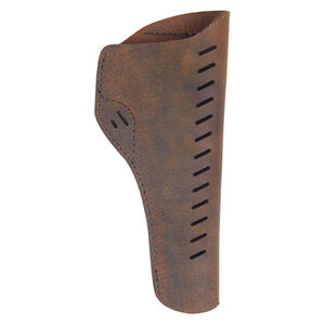 """Versacarry Revolver Holster OWB fits Colt Single Action With 5.5 to 6.5"""" Barrels and Similar Pattern Clones Right Hand Leather Distressed Brown"""