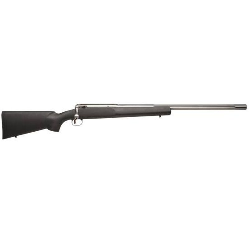 """Savage Model 12 LRPV Bolt Action Rifle .22-250 Remington 26"""" Fluted Stainless Barrel Single Shot Right Hand Bolt Left Port AccuTrigger Black Synthetic Stock Satin Finish 18148"""
