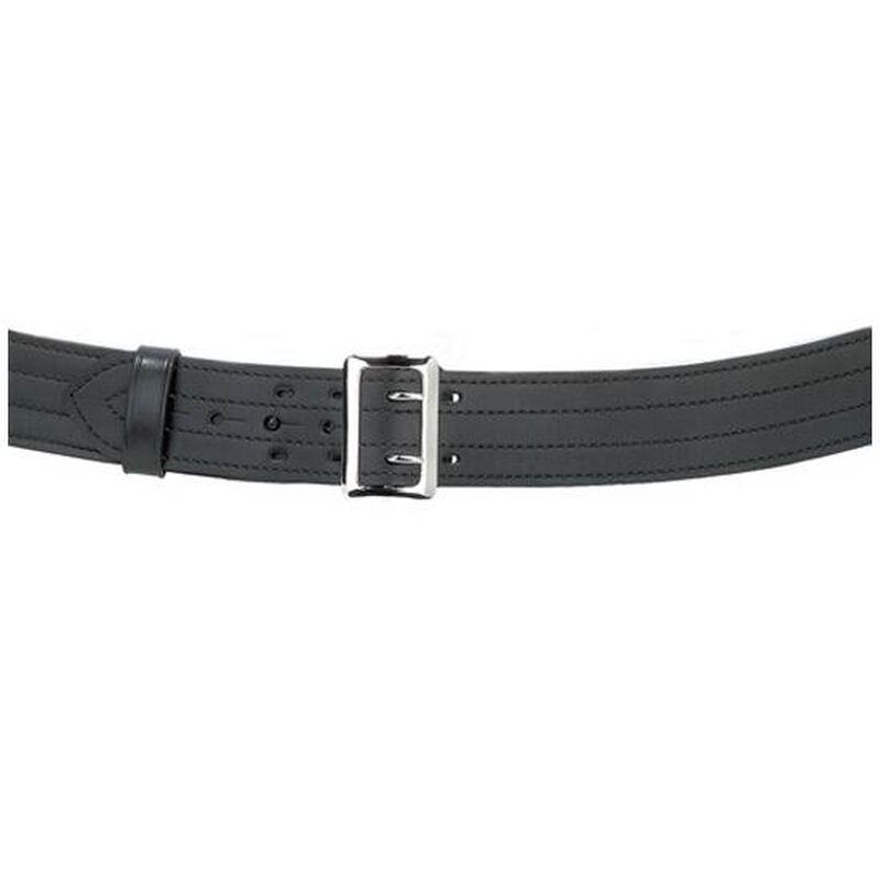 "Safariland Model 872 Contoured Suede Lined 2.25"" Duty Belt With Buckle 26"" Waist Nickel Buckle Plain Black 872-26-6"