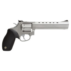 """Taurus Tracker 992 Double Action Revolver .22LR/.22 WMR 6.5"""" Barrel 9 Rounds Fixed Front Sight/Adjustable Rear Sight Ribber Grip Matte Stainless Steel Finish"""