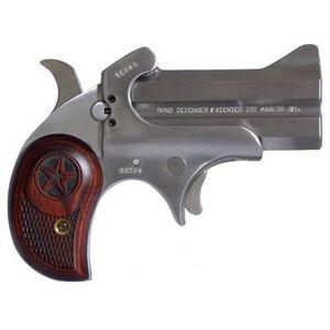 "Bond Arms Cowboy Defender Derringer Handgun .410 Bore or .45 Long Colt 3"" Barrels 2 Rounds Rosewood Grip Satin Polish Stainless Steel Finish CD45410"
