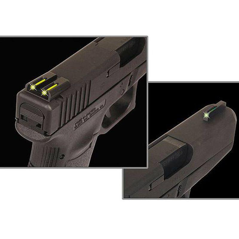 TRUGLO TFO GLOCK 42 Night Sights Low Profile Green Fiber Optic Front Yellow Rear Sight Set TG131GT1B