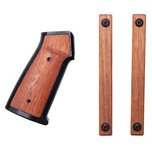 Sharps AR Grip Set Brazilian Cherry Wood Fits AR-15 Mlok Rail Panels