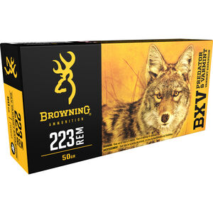 Browning BXV .223 Rem Ammunition 50 Grain Varmint Expansion Polymer Tip 3400 fps