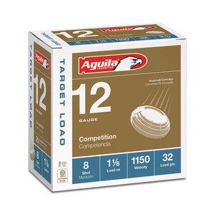 """Aguila Target Light Load 12 Gauge Shotshells 25 Rounds 2 3/4"""" 1 1/8 oz #8 1CHB1280"""