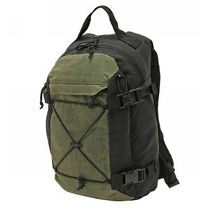 """Grey Ghost Gear Throwback Backpack 15""""x9""""x6"""" Overall 850 Total Cubic Inches Waxed Canvas Black/OD Green"""