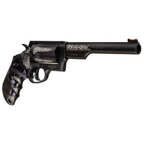 "Taurus Judge .45 Long Colt/.410 Bore Revolver 6.5"" Barrel 2.5"" Chamber 5 Rounds Custom Grips/Engraving Matte Black Oxide Finish"