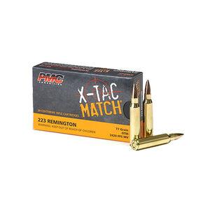 PMC X-Tac Match .223 Remington Ammunition 20 Rounds 77 Grain Open Tip Match Projectile 2790fps