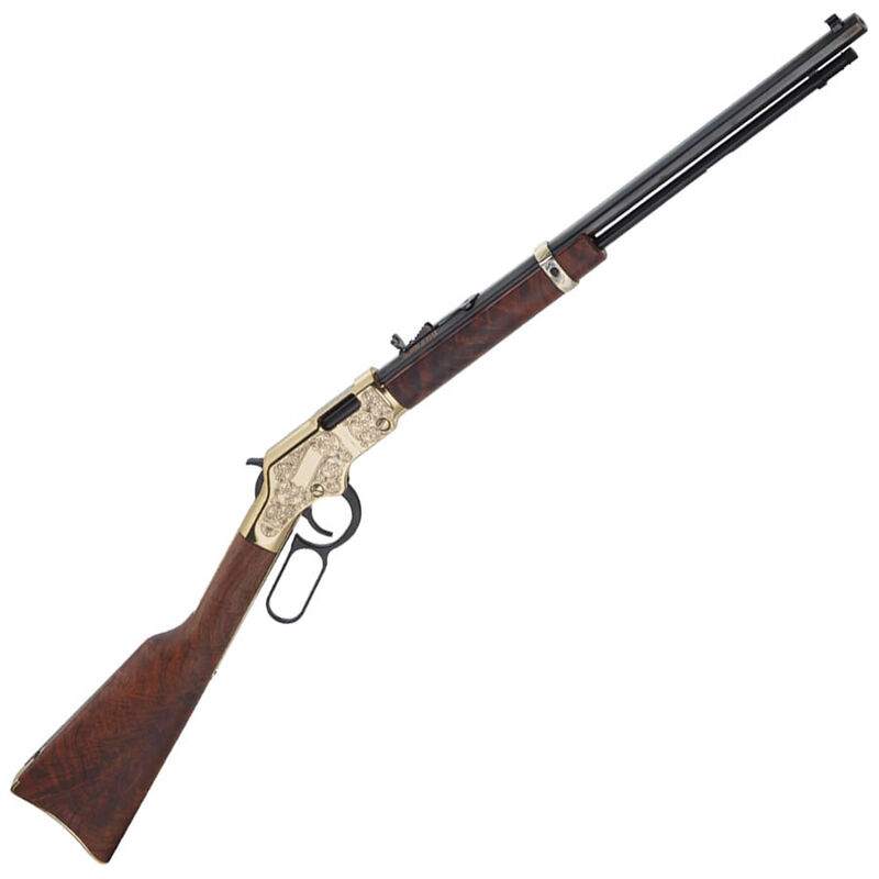 """Henry Golden Boy Deluxe 3rd Edition Lever Action Rifle .22 LR/L/S 20"""" Octagonal Barrel 16 Rounds Engraved Receiver Walnut Stock Blued H004D3"""
