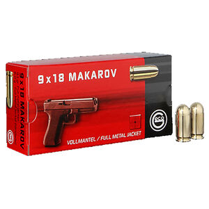 GECO 9mm Makarov Ammunition 50 Rounds 93 Grain Full Metal Jacket Round Nose