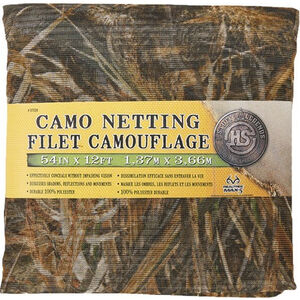 "Hunter's Specialties Camo Netting 54""x12' Polyester Realtree Advantage Max-5"