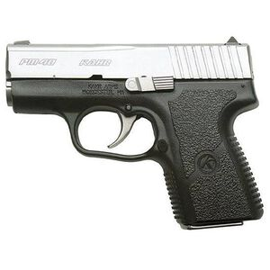 """Kahr Arms PM40 Semi Automatic Handgun .40 S&W 3"""" Barrel 5 Rounds White Bar Dot Sights Polymer Frame Matte Stainless Steel Finish"""