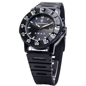 S&W S.W.A.T Watch Rubber Band Diver Bezel with Chronograph Features