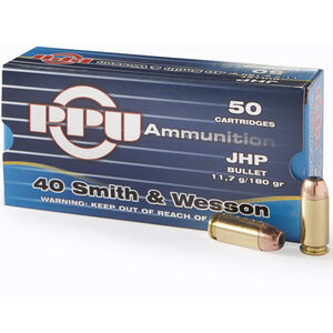 Prvi Partizan .40S&W Ammunition 50 Rounds JHP 180 Grains
