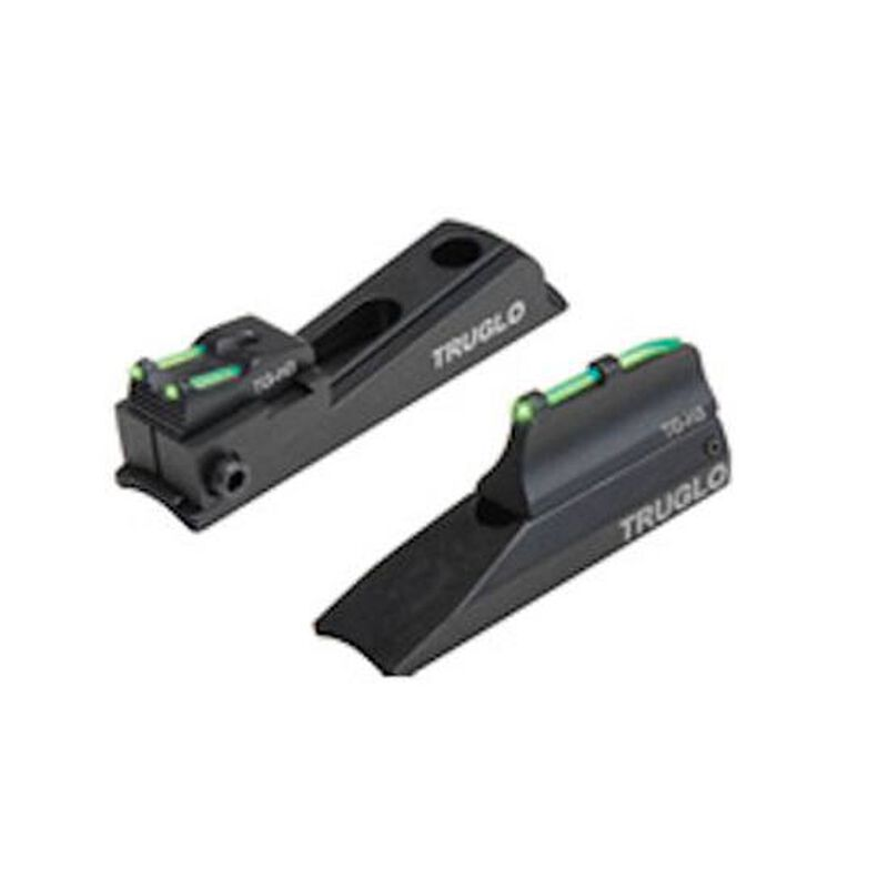 TRUGLO Sight Set Universal Muzzelloader Tritium/Fiber Optic Green