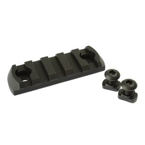 CMC Triggers Conversion Rail from M-LOK to 5 Slot Picatinny Anodized Aluminum Matte Black