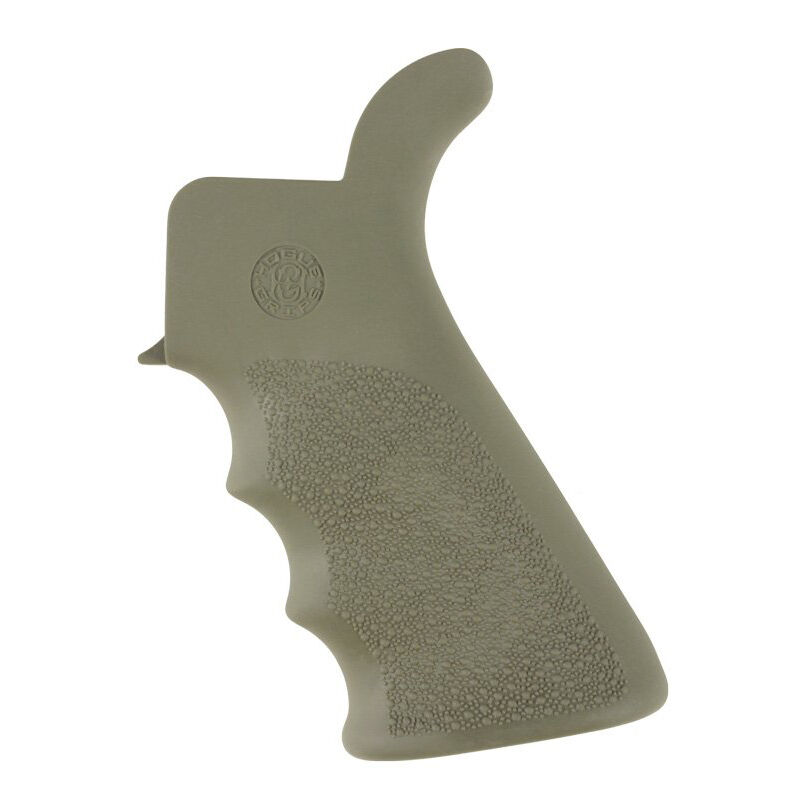 Hogue AR-15/M16 OverMolded Pistol Grip With Beaver Tail Rubber OD Green  15021