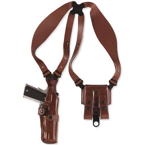 """Galco Vertical Shoulder Holster System 1911 5"""" Barrels Ambidextrous Leather Tan VHS212"""