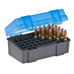 Plano Ammo Box 50 Rounds Small Rifle Polymer Flip Top Blue 122850