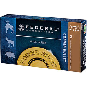 Federal Power-Shok Copper .300 Blackout Ammunition 20 Rounds 120 Grain LF Copper HP 2100fps