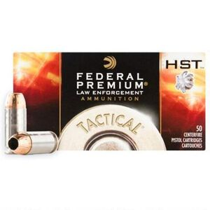 Federal LE Tactical 9mm Luger +P Ammunition 1000 Rounds 124 Grain HST Jacketed Hollow Point Projectile 1200fps