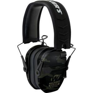 Walkers Razor Digital Pro Electronic Ear Muffs Hearing Protection Gray Camo
