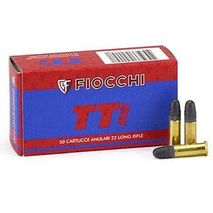 FIOCCHI .22LR Ammunition 50 Rounds, TT Sport LRN, 40 Grain