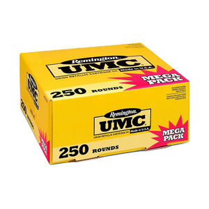 Remington UMC 9mm Luger Ammunition 250 Rounds 115 Grain Full Metal Jacket 1145fps Mega Value Pack