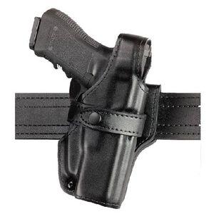 Safariland 070 S&W 4003TSW,4006TSW,4043TSW,4046TSW (with rails) SSIII Level III Mid Ride Duty Holster Right Hand Leather Plain Black 070-520-161